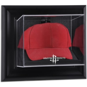 Houston Rockets Fanatics Authentic Black Framed Wall-Mountable Cap Display Case