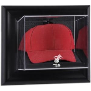 Miami Heat Fanatics Authentic Black Framed Wall-Mountable Cap Display Case