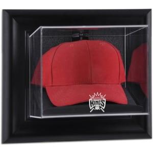 Sacramento Kings Fanatics Authentic Black Framed Wall-Mounted Hardwood Classics 1994 - 2016 Team Logo Cap Display Case