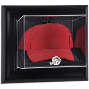 Utah Jazz Fanatics Authentic Black Framed Hardwood Classics 2004 - 2016 Team Logo Wall-Mounted Cap Display Case
