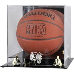 Orlando Magic Fanatics Authentic Golden Classic Team Logo Basketball Display Case
