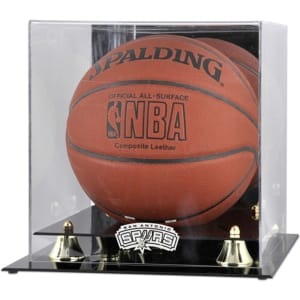 San Antonio Spurs Fanatics Authentic (2002-2017) Golden Classic Team Logo Basketball Display Case
