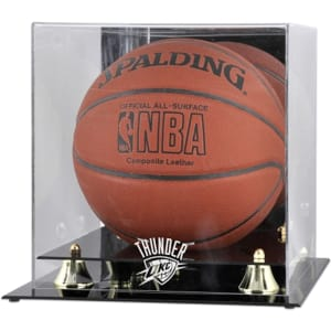Oklahoma City Thunder Fanatics Authentic Golden Classic Team Logo Basketball Display Case