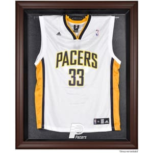 Indiana Pacers Fanatics Authentic (2005-2017) Brown Framed Jersey Display Case