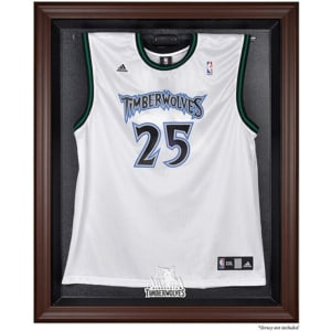 Minnesota Timberwolves Fanatics Authentic (2008-2017) Brown Framed Jersey Display Case