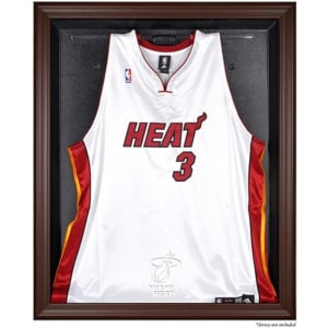 Miami Heat Fanatics Authentic Brown Framed Jersey Display Case