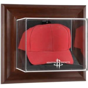 Houston Rockets Fanatics Authentic Team Logo Brown Framed Wall-Mountable Cap Display Case