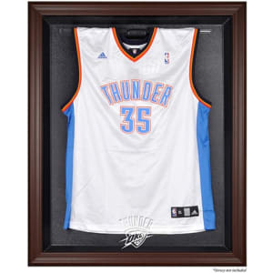 Oklahoma City Thunder Fanatics Authentic Brown Framed Logo Jersey Display Case