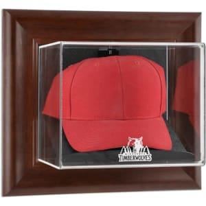 Minnesota Timberwolves Fanatics Authentic (2008-2017) Team Logo Brown Framed Wall-Mounted Cap Case