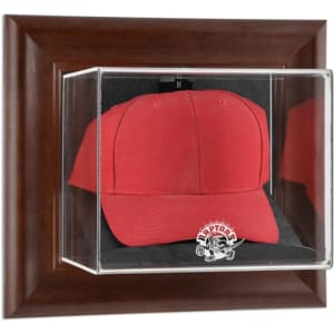 Toronto Raptors Fanatics Authentic Hardwood Classics 1995 - 2015 Logo Brown Framed Wall-Mounted Cap Case