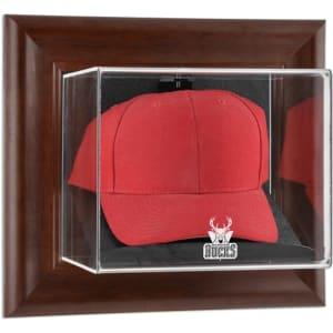 Milwaukee Bucks Fanatics Authentic (2006-2014) Team Logo Brown Framed Wall-Mounted Cap Case
