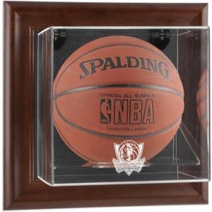 Dallas Mavericks Fanatics Authentic Brown Framed Wall-Mountable Team Logo Basketball Display Case