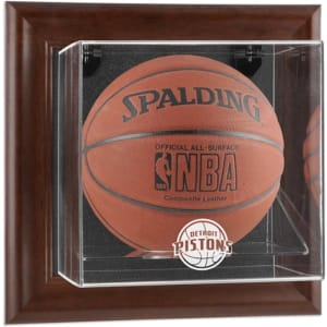 Detroit Pistons Fanatics Authentic (2005-2017) Brown Framed Wall-Mounted Team Logo Basketball Display Case