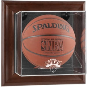 New York Knicks Fanatics Authentic Brown Framed Wall-Mountable Team Logo Basketball Display Case