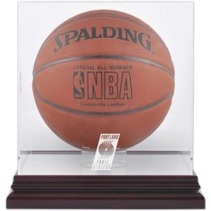 Portland Trail Blazers Fanatics Authentic (2004-2017) Mahogany Team Logo Basketball Display Case with Mirrored Back