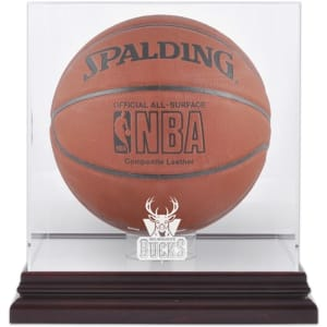 Milwaukee Bucks Fanatics Authentic (2006-2014) Mahogany Team Logo Basketball Display Case with Mirrored Back