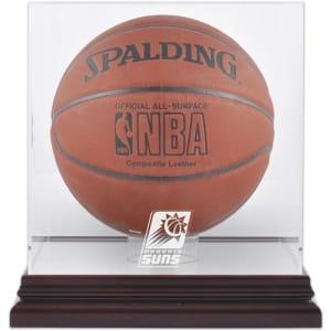Phoenix Suns Fanatics Authentic Mahogany Team Logo Basketball Display Case with Mirrored Back