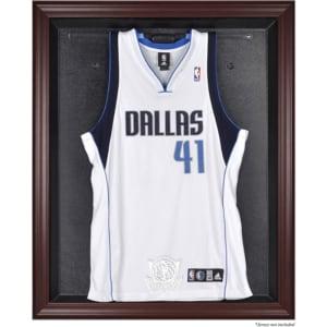 Dallas Mavericks Fanatics Authentic Mahogany Framed Team Logo Jersey Display Case