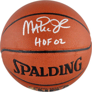 "Magic Johnson Los Angeles Lakers Fanatics Authentic Autographed Spalding Indoor/Outdoor Basketball with ""HOF 02"" Inscription"