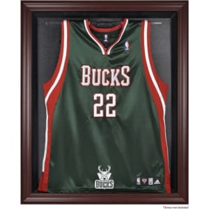 Milwaukee Bucks Fanatics Authentic (2006-2014) Mahogany Framed Team Logo Jersey Display Case