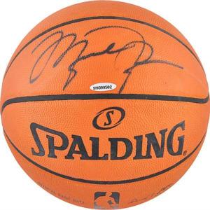 Michael Jordan Chicago Bulls Upper Deck Autographed Spalding Pro Leather Basketball
