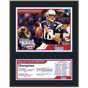 "New England Patriots Fanatics Authentic 12"" x 15"" Super Bowl XXXVI Sublimated Plaque"