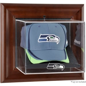Seattle Seahawks Fanatics Authentic Brown Framed Wall-Mountable Baseball Cap Display Case