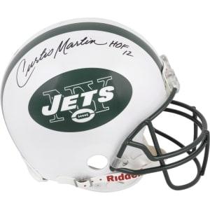"Curtis Martin New York Jets Fanatics Authentic Autographed Proline Riddell Helmet with ""HOF 12"" Inscription"