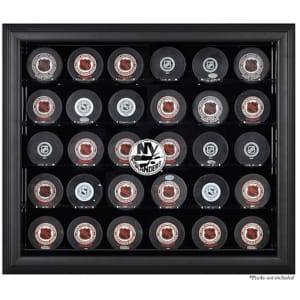 New York Islanders Fanatics Authentic 30-Puck Black Display Case