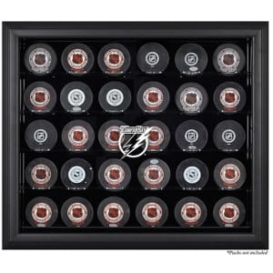 Tampa Bay Lightning Fanatics Authentic 30-Puck Black Display Case