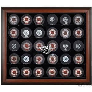Nashville Predators Fanatics Authentic 30-Puck Brown Display Case