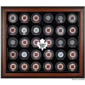 Toronto Maple Leafs (1970-2016) Fanatics Authentic 30-Puck Brown Display Case