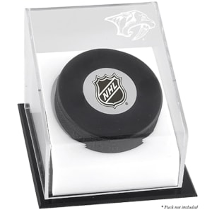 Nashville Predators Fanatics Authentic Puck Deluxe Logo Display Case