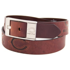Chicago Bears Brandish Leather Belt - Brown
