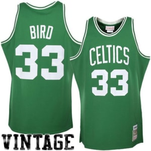 Larry Bird Boston Celtics Mitchell & Ness 1985/86 Hardwood Classics Authentic Jersey - Kelly Green