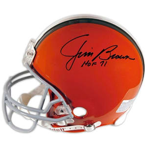 "Jim Brown Cleveland Browns Fanatics Authentic Autographed Riddell Helmet with ""HOF 71"" Inscription"