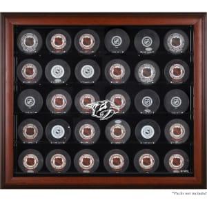 Nashville Predators Fanatics Authentic 30-Puck Mahogany Display Case