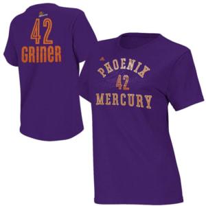 Brittney Griner Phoenix Mercury adidas Name & Number T-Shirt -