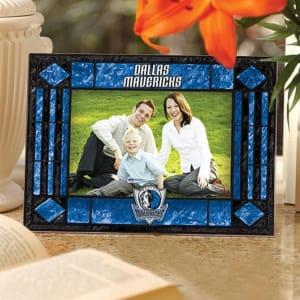 Memory Company Dallas Mavericks Art Glass Horizontal Frame