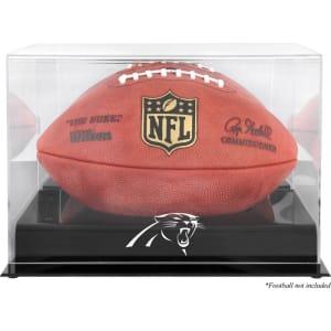 Carolina Panthers Fanatics Authentic Black Base Football Logo Display Case with Mirror Back