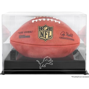 Detroit Lions Fanatics Authentic Black Base Football Logo Display Case with Mirror Back