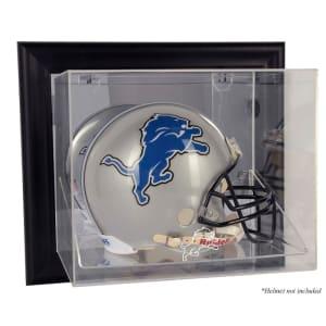 Detroit Lions Fanatics Authentic Black Framed Wall-Mountable Helmet Display Case