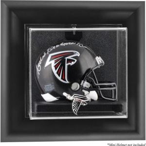 Atlanta Falcons Fanatics Authentic Black Framed Wall-Mountable Mini Helmet Display Case