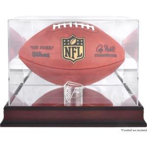 Atlanta Falcons Fanatics Authentic Mahogany Football Logo Display Case with Mirror Back