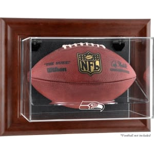 Seattle Seahawks Fanatics Authentic Brown Framed Wall-Mountable Football Display Case