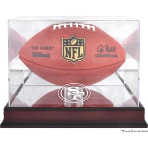 San Francisco 49ers Fanatics Authentic Mahogany Football Logo Display Case with Mirror Back