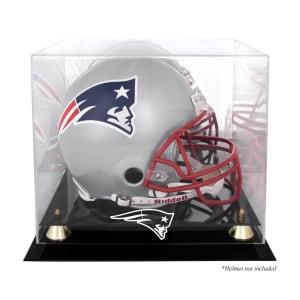 New England Patriots Fanatics Authentic Golden Classic Helmet Display Case with Mirrored Back