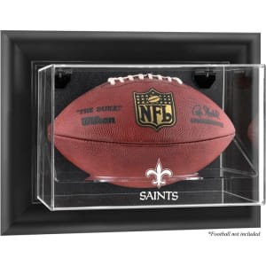 New Orleans Saints Fanatics Authentic Black Framed Wall-Mountable Football Display Case