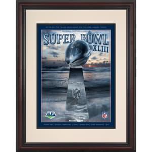 "Fanatics Authentic 2009 Pittsburgh Steelers vs. Cardinals 8.5"" x 11"" Framed Super Bowl XLIII Program"