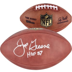 "Joe Greene Pittsburgh Steelers Fanatics Authentic Autographed Duke Pro Football with ""HOF 87"" Inscription"